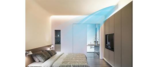美的卧室中央空调风口效果图