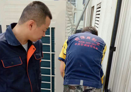 北京都美化妆品公司 美的一拖七中央空调安装案例