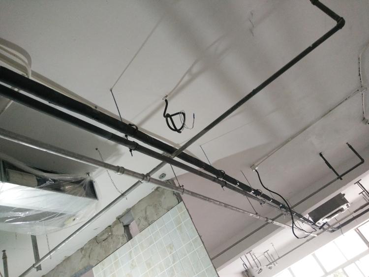 冷媒銅管安裝效果圖