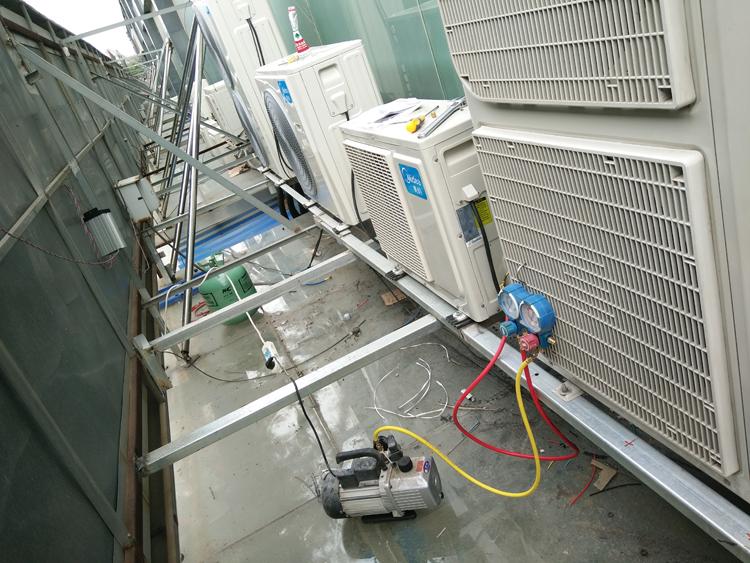 中央空調室外機安裝效果圖