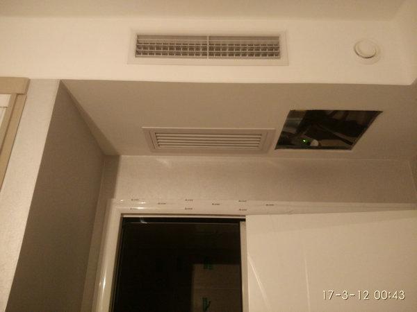 朝阳区华纺易城西区5-2-1101美的新风安装案例